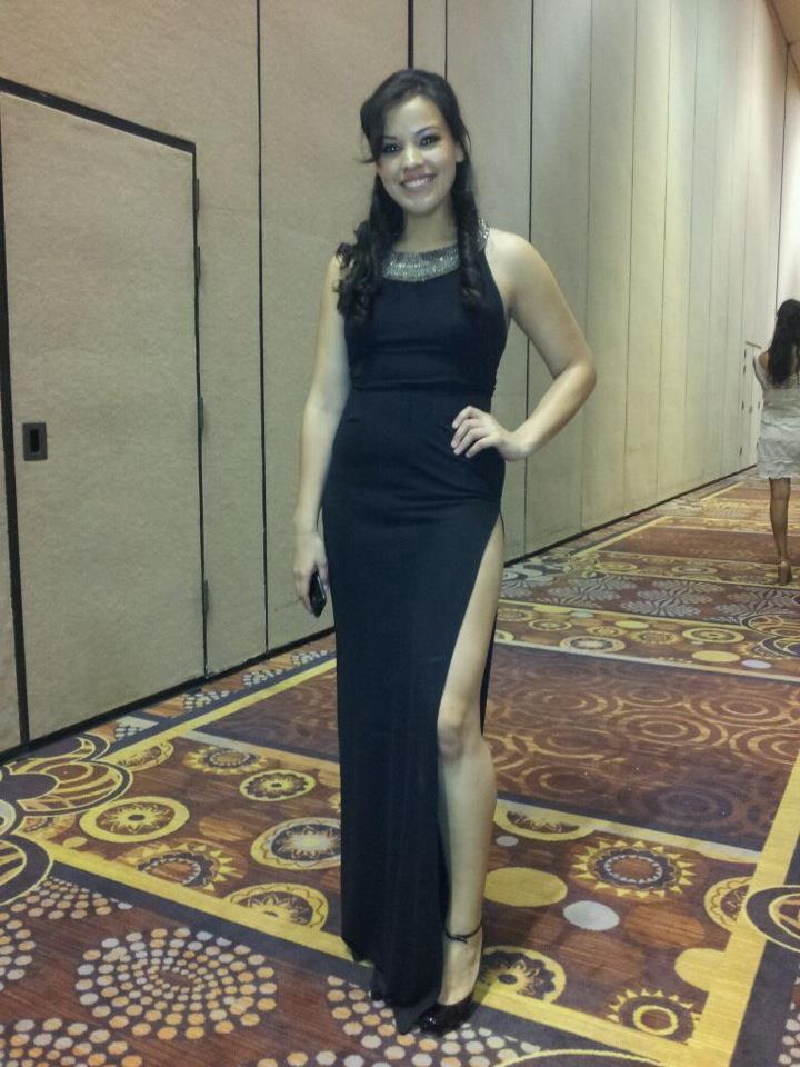 Janae wears B.Yellowtail at the designer's fashion show in Las Vegas in 2012