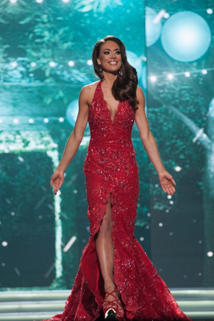 Alyssa London, Miss Alaska USA 2017, competes as a top 10 finalist in her evening gown. HO/The Miss Universe Organization