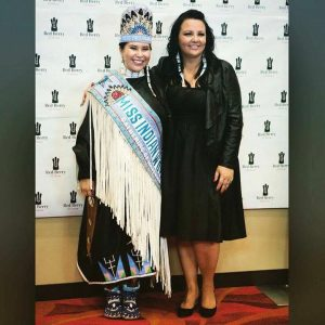 Norma with Miss Indian World 2016 Danielle Ta'Sheena Finn