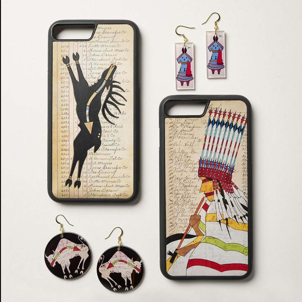 Pepion's earrings & phone cases / Courtesy