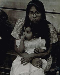 My young mother and myself at age 1
